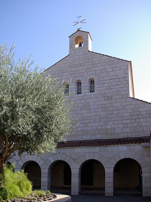 火災が発生したイスラエル北部にある「パンと魚の奇跡の教会」(写真:Berthold Werner)