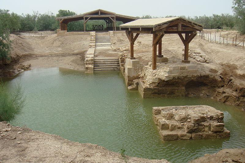 ユネスコの世界文化遺産に登録された、イエスが洗礼を受けたと考えられている「ヨルダン川対岸のベタニア」(アル・マグタス)(写真:Producer)