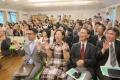 3・11被災の礼拝堂再建、感謝礼拝に150人 「未来予想図」の発表も