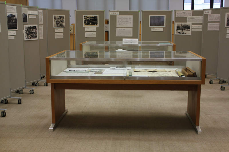 上智大学中央図書館に設けられた展示場