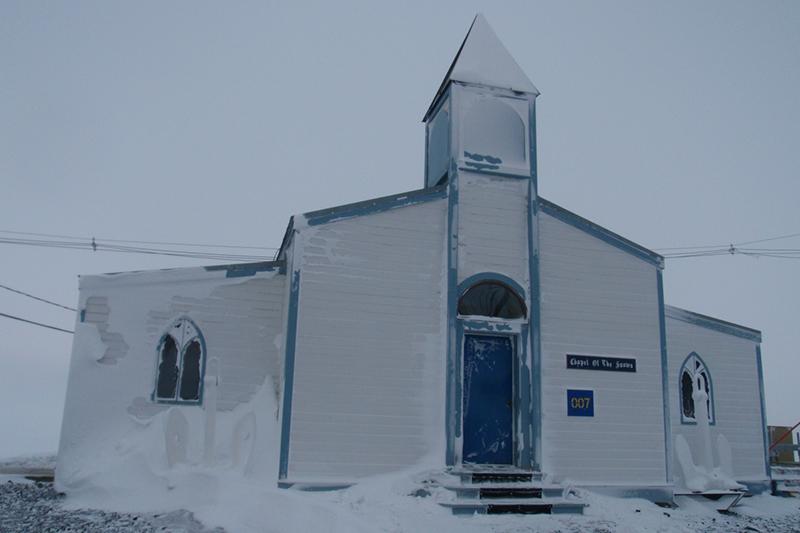 南極の米マクマード基地にある「雪の聖堂」(写真:Alan Light)