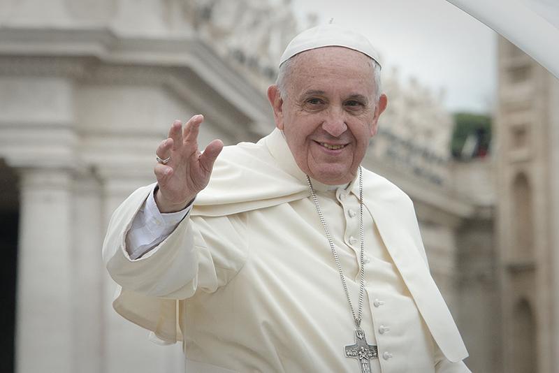 ローマ教皇、核廃絶訴え 「戦争と暴力に『ノー』を、対話と平和に『イエス』を」