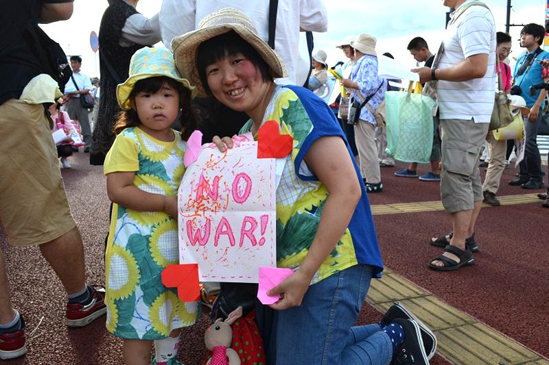 ママたち、千葉でも安保法案反対の訴え 「うちの子もよその子も戦争に行かせない」