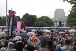 60年安保世代の教会員「若者と女性に希望」 上智大教授「社会的連帯に深い感慨」 国会前で12万人が安保法案反対