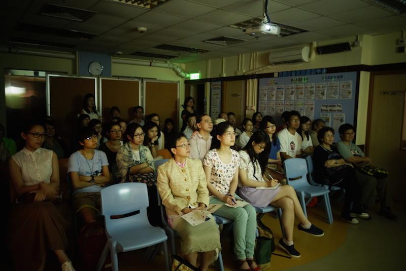香港基督教協進会(HKCC)が開いたビデオ上映会の様子=3日、HKCCホール(香港・九龍地区)で(写真:HKCC提供)