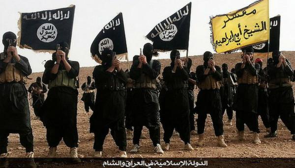 過激派組織「イスラム国」(IS)の戦闘員<br />