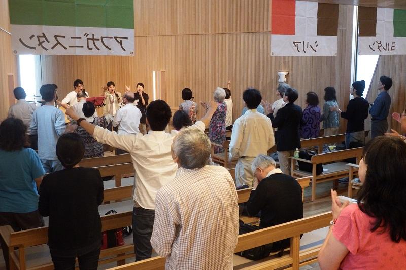 第1回世界宣教セミナーの様子=26日、21世紀キリスト教会(東京都渋谷区)で