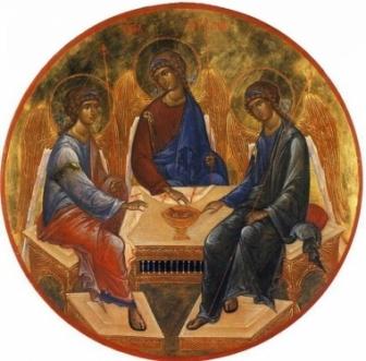 アンドレイ・ルブリョフ作「至聖三者」
