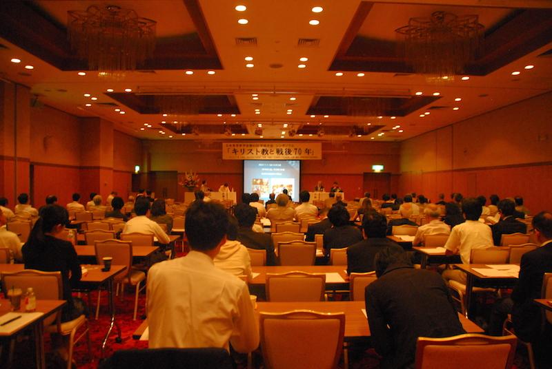 日本基督教学会第63回学術大会の2日目午後に行われたシンポジウム=9月12日