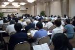 大会には教職や信徒ら約100人が参加した=27日、千葉県市川市で