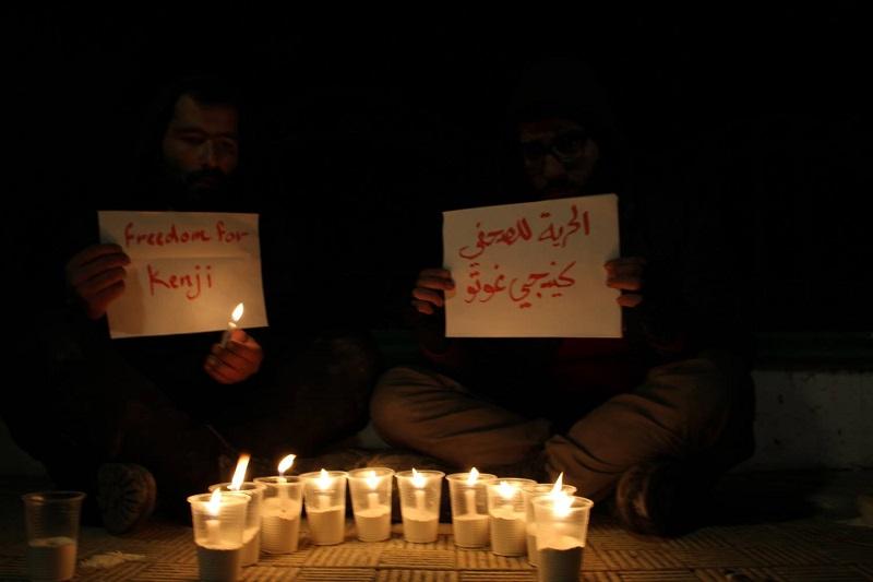 後藤健二さんの解放を願って現地シリアでも多くの祈りがささげられた。(撮影:Sami Meshaal)