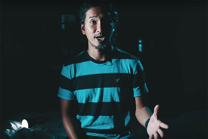 2つ目の動画「愛には恐れがありません」で話すニューホープ横浜の山口武春副牧師(写真:動画より)