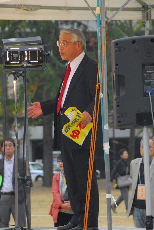 """""""福島の現実、伊方で繰り返してはならない"""" 「伊方原発をとめる会」共同代表・須藤昭男牧師"""
