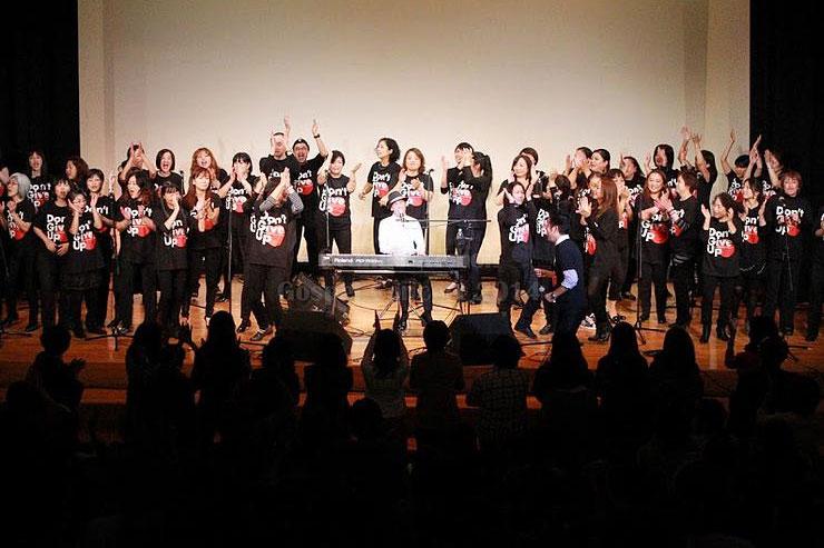 昨年東京で開催された「オレンジゴスペル2014フィナーレ記念コンサート」(写真:「オレンジゴスペル全国ツアー2015」のホームページより)