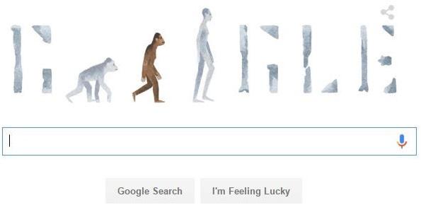 「ルーシー」を記念して24日に現れたグーグルのロゴ(画像:グーグル・トップページのスクリーンショット)