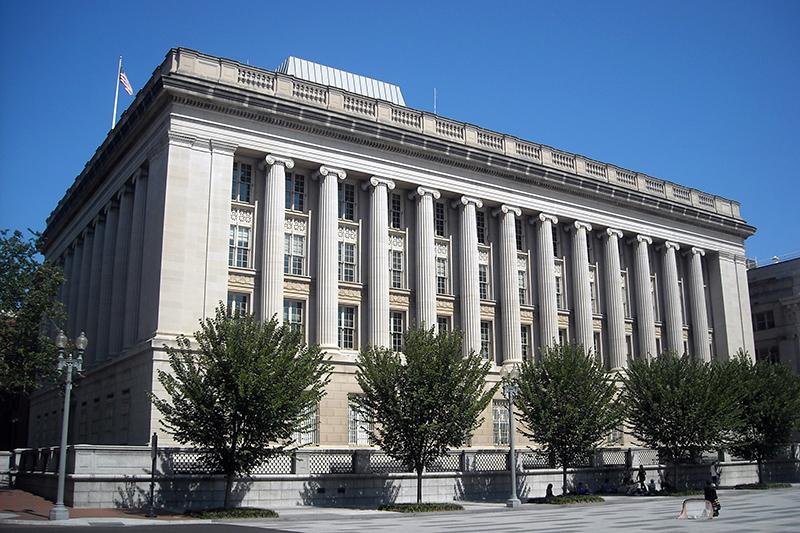 米財務省の海外資産管理室(OFAC)が入居する米ワシントンの米財務省別館(写真:AgnosticPreachersKid)