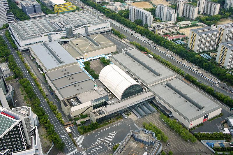 SKE48の握手会が行われた大阪市の国際展示場「インテックス大阪」(写真:Kirakirameister)