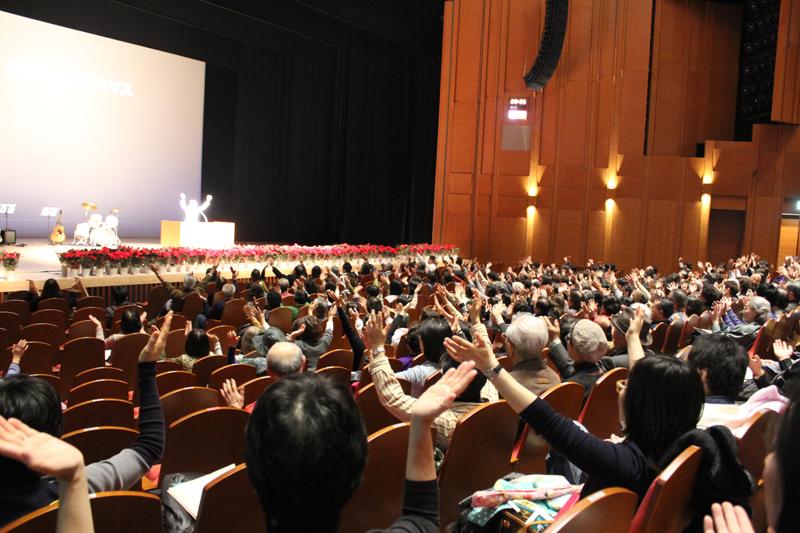「みんな地球に生きる人」アグネスさんが講演 第41回川越市民クリスマス開催