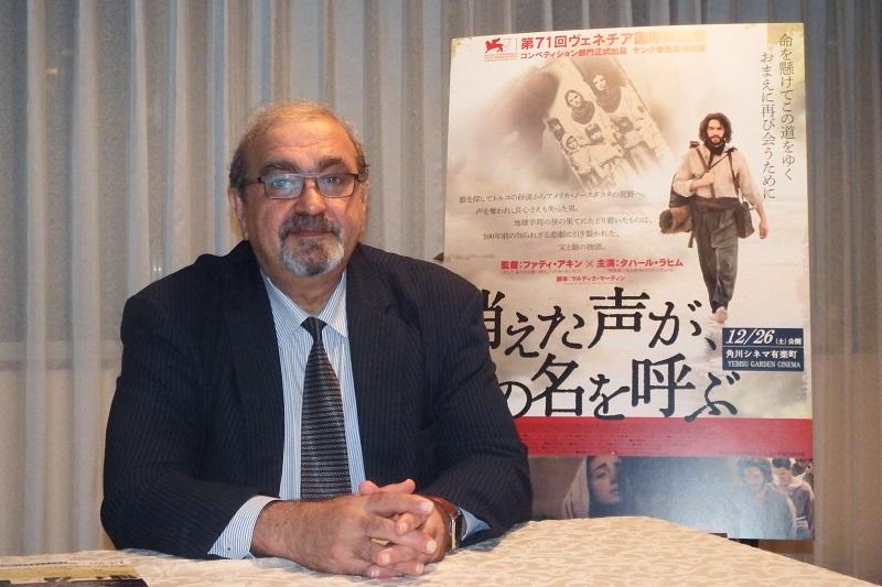グラント・ポゴシャン駐日アルメニア共和国大使の祖父は、アルメニア人虐殺の際、西アルメニアから東に逃れてカラバフ(当時のロシア領)のシュシに辿り着いたという=11月17日、アルメニア共和国大使館(東京都港区)で