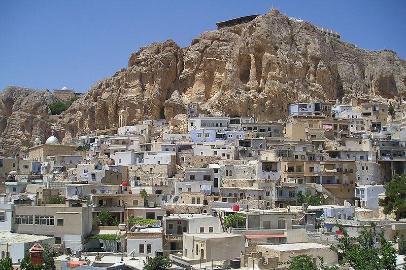 シリアの首都ダマスカスの郊外にあるレバノン国境付近の町マアルーラ(写真:Heretiq)