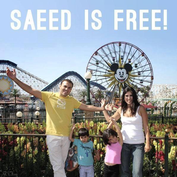 サイード・アベディニ牧師と妻ナグメーさん、2人の幼い子ども(写真:ナグメー・アベディニさんのフェイスブック)