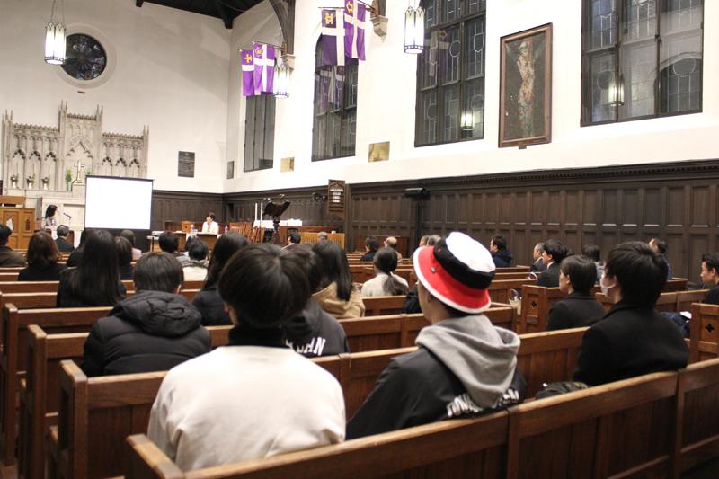 世界を見て自分のできることからまず始めよう 立教大学礼拝堂で平和のための講演会が22日開催