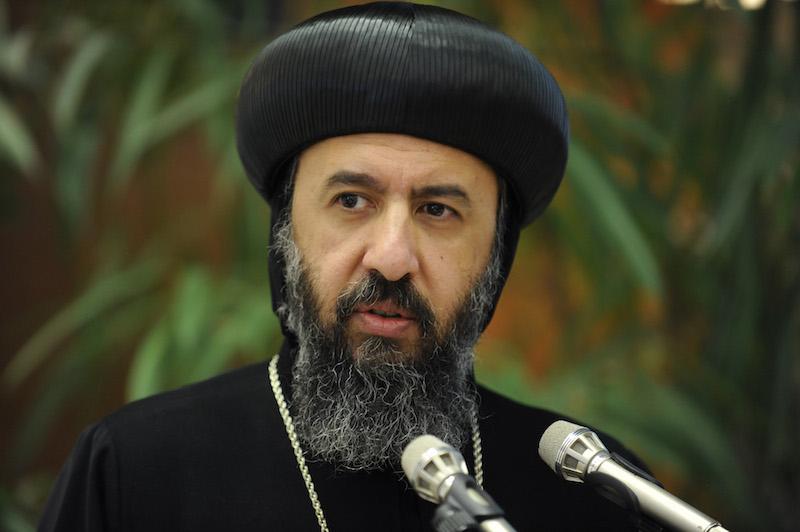 英国コプト正教会のアンジェロス主教(写真:Peter Williams/WCC)