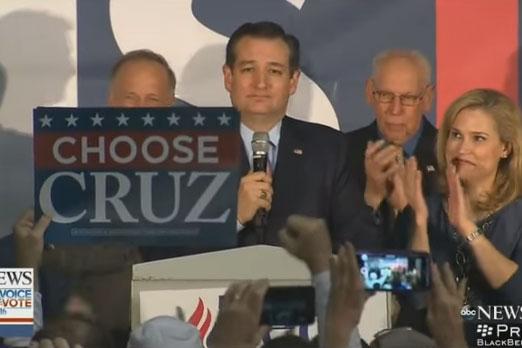 テッド・クルーズ氏、アイオワ州党員集会で勝利 神と「勇気ある保守派」に感謝(動画あり)