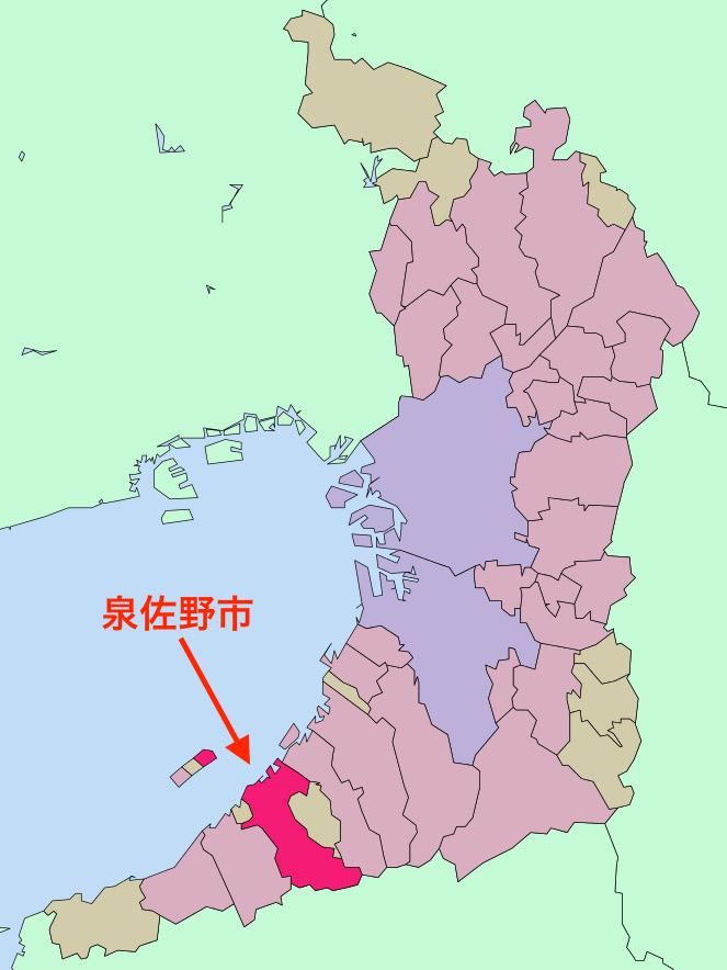 泉佐野市(図:Lincun)<br />