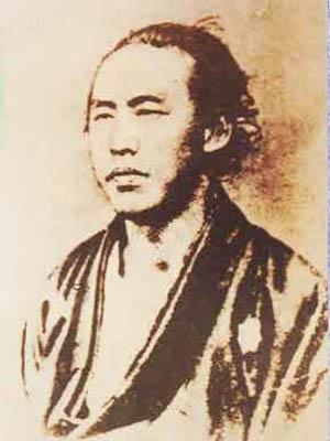 坂本竜馬の写真、慶応3年竜馬33歳の時。
