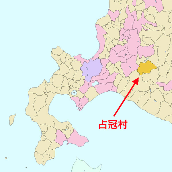 北海道占冠村の場所