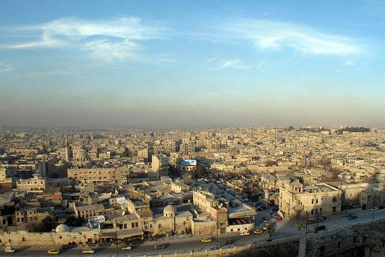 シリア北部の都市アレッポ(写真:Hejar Ibrahim Moustafa)