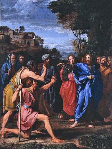 Nicolas Colombel≪目の見えない人を癒やすキリスト(Christ Healing the Blind)≫1682年、油彩、カンヴァス、セントルイス美術館蔵(画像:ウィキペディア)