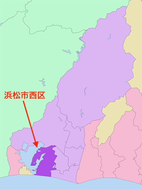 浜松市西区(図:Lincun)