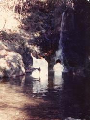 一の谷での洗礼式の風景、1975年ごろ