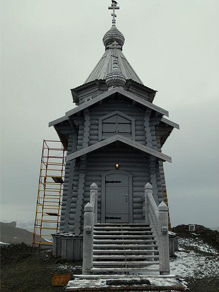 南極にあるロシア正教会の至聖三者聖堂(写真:ロシア正教会)