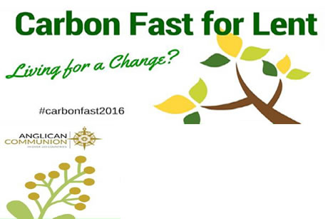 """「レントのための炭素の""""断食""""(the Carbon Fast for Lent)」の図柄(画像:ACNS)"""