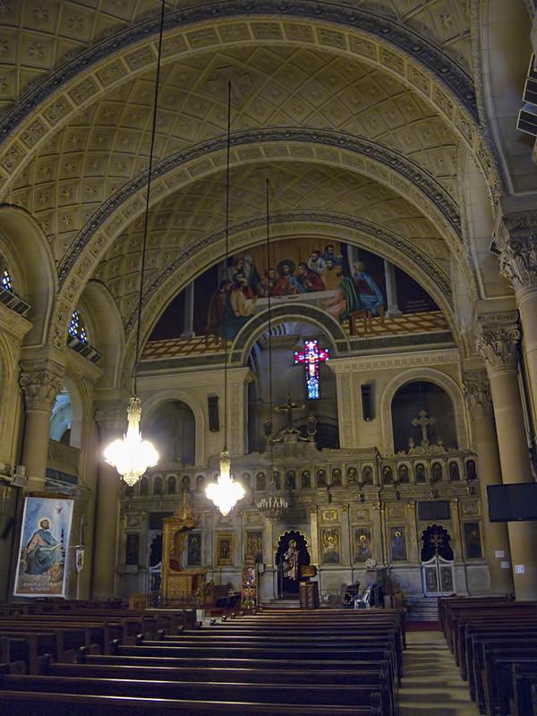 エジプト・アレクサンドリアにあるコプト正教会の聖マルコ大聖堂(写真:Dan Lundberg)