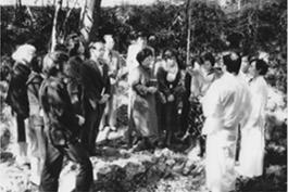 一の谷での洗礼式の風景(1975年ごろ)