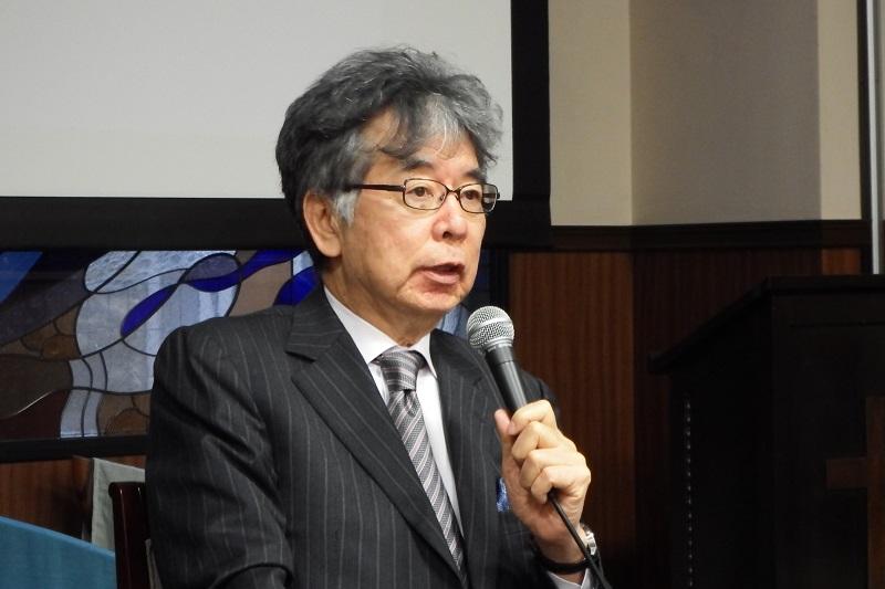 70年代から、難民など移住者の精神医療に携わっている精神科医師の野田文隆氏(めじろそらクリニック院長)=2月20日、JELAミッションセンター(東京都渋谷区)で