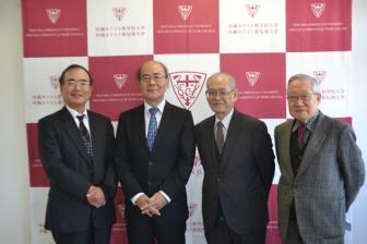 キリ学次期学長に友利廣氏 学長就任会見行われる 建学の精神の重要性を語る