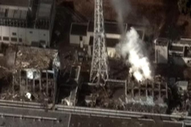 2011年の事故後に撮影された福島第一原子力発電所(写真:Digital Globe)