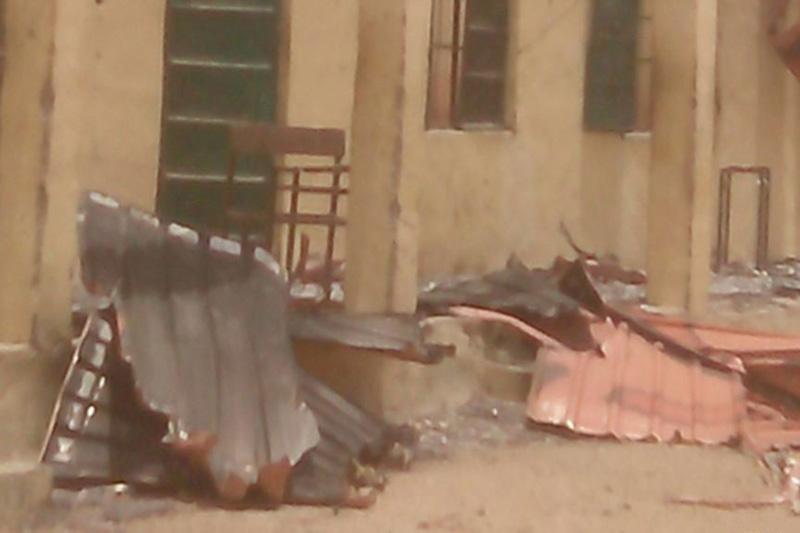 過激派組織「ボコ・ハラム」による生徒拉致事件で破壊された学校(写真:Yaroh Dauda)