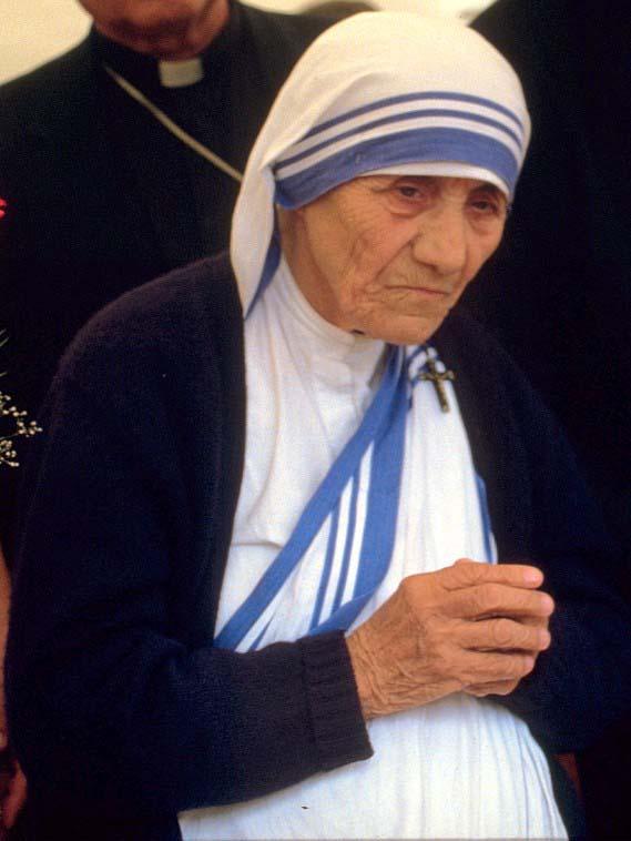 マザー・テレサ=1986年、ドイツのボンで(写真:Túrelio)