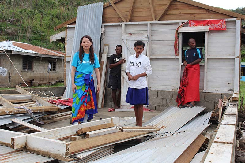 ユニセフ・アジア親善大使のアグネス・チャンさん、サイクロン「ウィンストン」被災地の支援訴え