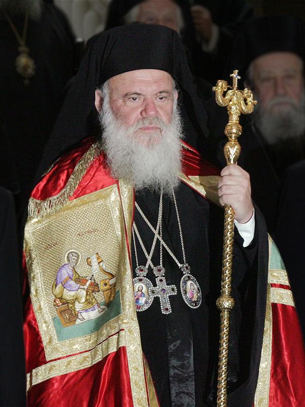 ギリシャ正教会のアテネおよび全ギリシャの大主教であるヒエロニモス2世(写真:Evripidis Styliandis)