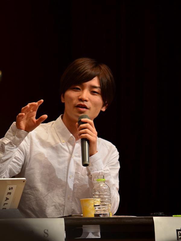 奥田愛基(あき)さん(写真は2015年10月25日に撮影)