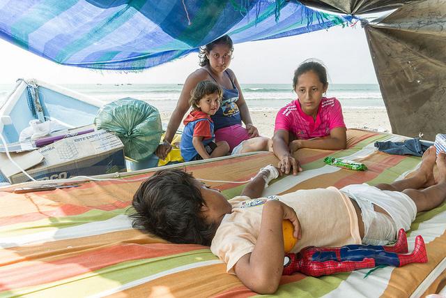 震災により、医療が大きな打撃を受けた。九つの病院が深刻な被害を受け、今も再開していない。(写真:Eduardo Naranjo for Catholic Relief Services)