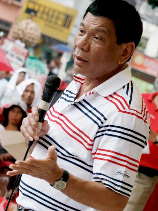 9日に行われたフィリピンの大統領選で新大統領に選ばれたロドリゴ・ドゥテルテ氏=2009年2月11日(写真:Keith Kristoffer Bacongco from Davao, Philippines)