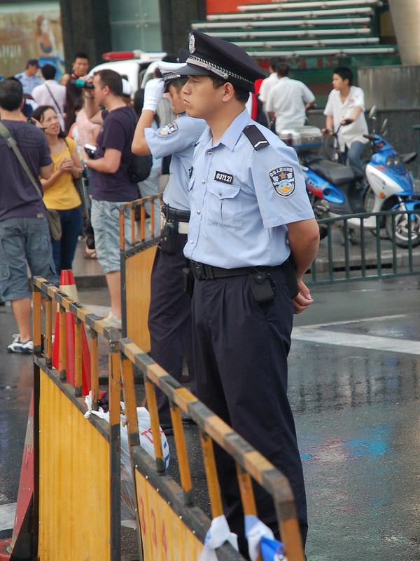 中国の警官(写真:Beijing Patrol)
